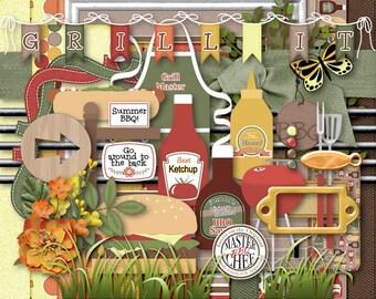Backyard BBQ Digital Scrapbook Kit