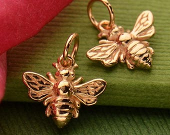 Rose Gold Bee Charm