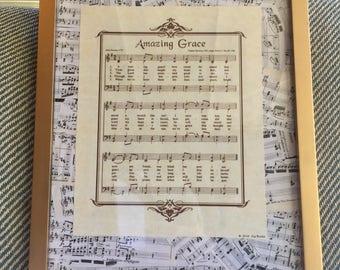Vintage Sheet Music Collage Frame