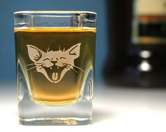 Laughing Cat Shot Glass