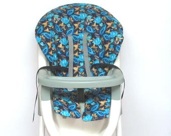 Graco baby accessory cotton high chair cover, chair protector, replacement baby feeding chair cushion, kids chair pad, paisley and roses