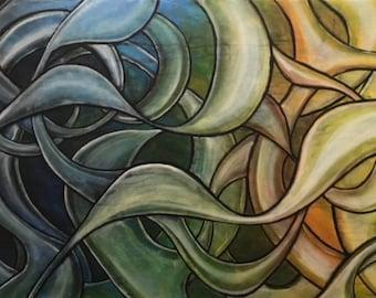 Abstract  CZ18001 - Original Abstract Art
