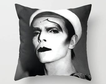 David Bowie Decorative Pillow, Square pillow with\ without zipper