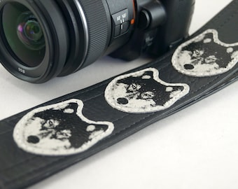 Wolf Camera Strap Hand Made In 3 Color Options Howl At The Moon