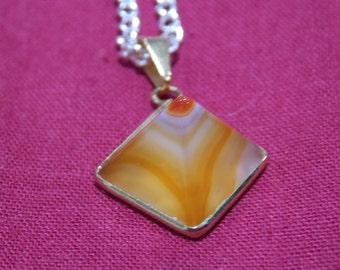 Semi precious stone  / crystal necklace chain pendant
