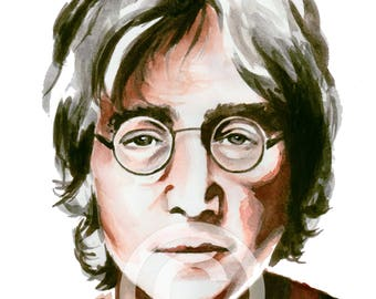 John Lennon / Watercolor