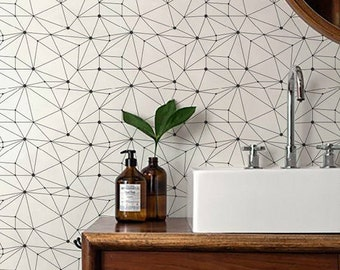 Minimalistic Geometric Removable / Self Adhesive / Temporary Wallpaper / Wall Mural / Wall covering - 128