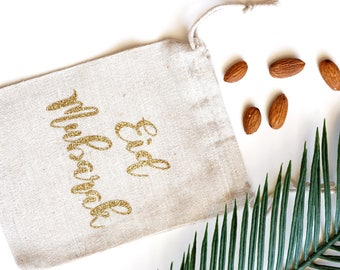 Eid goody Bags - Cloth and Gold Glitter