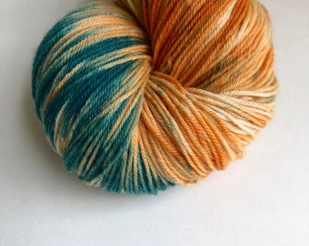 """Hand dyed sock yarn in """"One Of A Kind OOAK"""" colorway"""