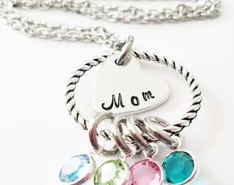 Mothers Day Necklace - Mothers Day Gifts, Mothers Day Jewelry, Mothers Necklace, Mom Jewelry, Gift for Mom, Personalized Mom Necklace