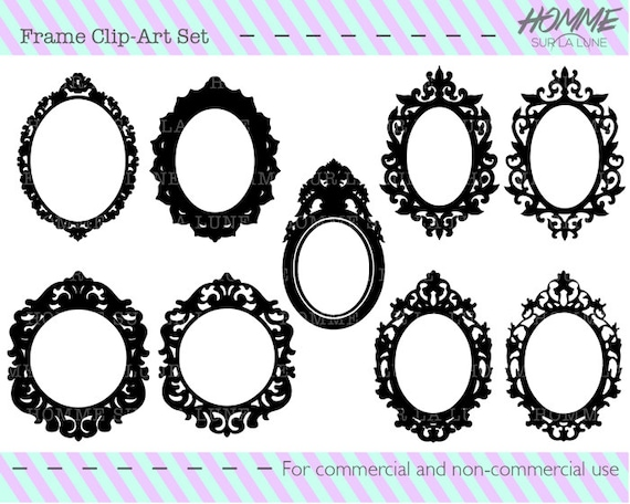 Picture frame assortment, picture frame clipart, frame clipart ...
