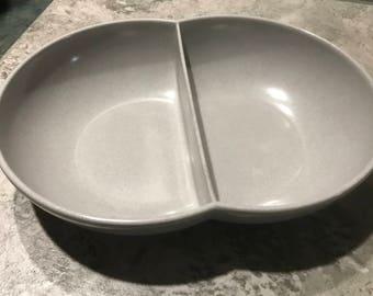 Vintage Branchell Melmac Divided Serving Bowl