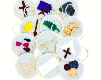 Easter Story Resurrection Felt Ornaments**Set of 12**