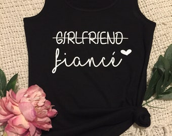 Personalised Bridal Tank Top for Bachelorette Parties/ Bridal Showers/ Girlfriend to Fiance for Bride-To-Be/Future Mrs/ Wedding Gifts
