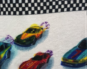 Racecar Fleece Fabric by the yard