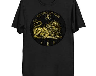 Lovecraftian Zodiac - Nyarlathotep Leo Shirt, Star Sign Tee, Astrology Shirt, Cthulhu Mythos T-Shirt