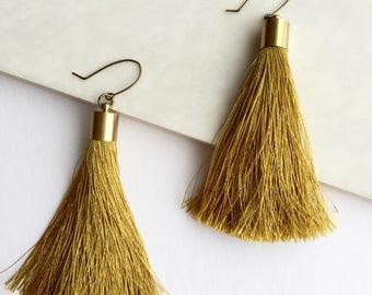 Mollie Gold Tassel Earrings