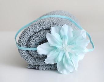 Knit Baby Wrap, Grey Knit Wrap Set, Baby Knit Wrap, Newborn Prop, Newborn Knit Wrap, Newborn Wrap Set, Photography Prop