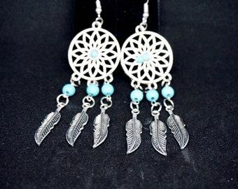 Bohemian chic feather earrings