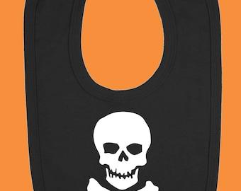 Skull and Crossbones Baby Bib