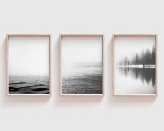 Set of 3 Prints| Coastal Print Set| Seascape Printable Wall Art| Minimalist Posters| Minimalist Ocean Art Prints| Trending Tumblr Room Decor
