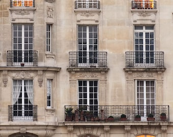 Paris Photography, Sunset Windows Paris Print Extra Large Wall Art Prints, Paris Wall Decor, Apartment Art for Her