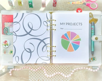 Goal Planner Half Letter Inserts 8.5 x 5.5 Project Management  Project Planner Printable Business Project Planner Half Size Planner Pages