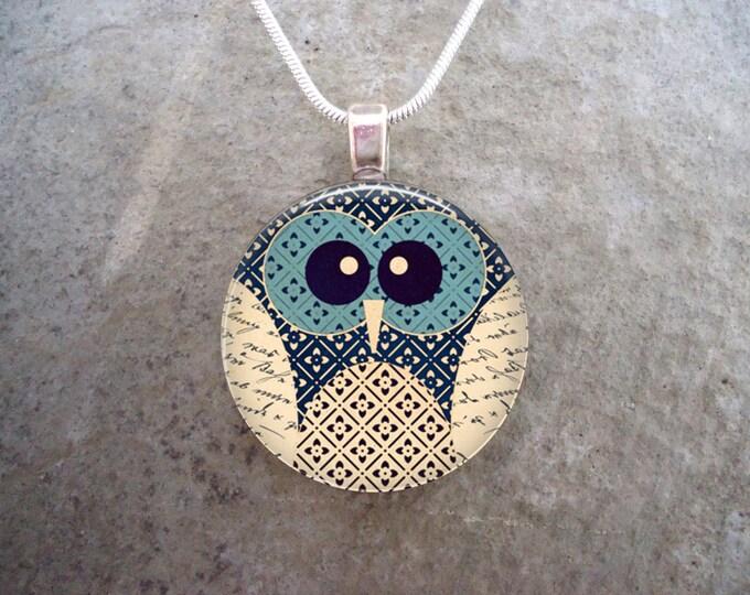 Owl Jewelry - Glass Pendant Necklace - Owl 8