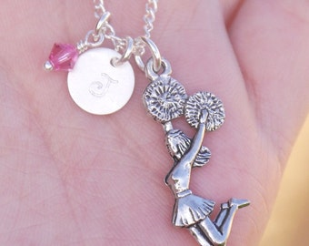 Cheerleader Necklace, Personalized Gift for Cheerleader, Cheerleader Jewelry, Cheerleading Necklace, Cheerleading Jewelry, Cheerleader