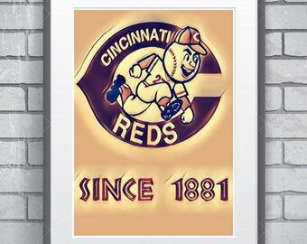 Cincinnati Reds poster 11 by 14 , vintage retro look