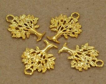 SALE 30pcs golden plating tree pendant