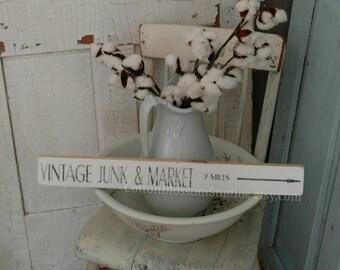 Vintage Wood Sign - Vintage Market Sign - Farmhouse Sign - Antique sign - Farmhouse Decor -Cotton Blossom Stuido -fixer upper Style