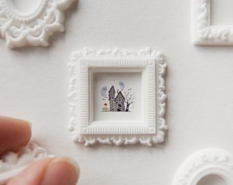 Haunted House, microwatercolor, 9,5x11 mm.