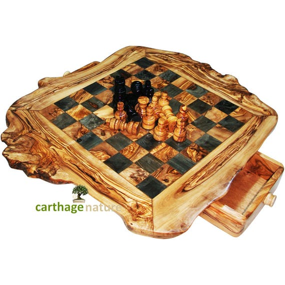 Saint patrick gift easter gift birthday gift parents gift saint patrick gift easter gift birthday gift parents gift idea olive wood rustic chess set board 20 boyfriend girlfriend gift negle Images
