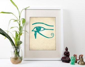 Eye of Horus Print, Eye of Horus Art Print, Egyptian Home Decor, Eye of Horus Poster, Egypt Art Home Decor, Eye of Horus Symbol Art Prints