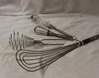 Vintage Wisks (set of 4)