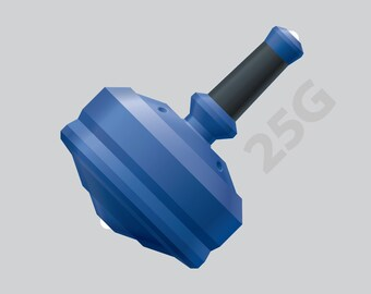 """Leap 25G with Zirconia Ceramic Tips and Grip Color Option – 1"""" Blue Polymer Spin Top"""