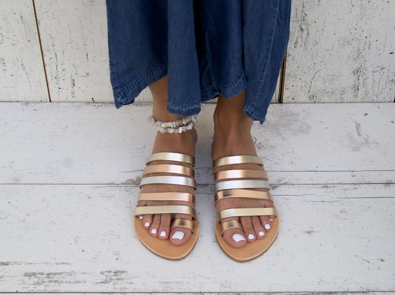 sandals Greek sandals toe sandals sandals handmade THALIA roman strappy sandals sandals ancient sandals classic GOLD leather leather ring FUxxtwq07