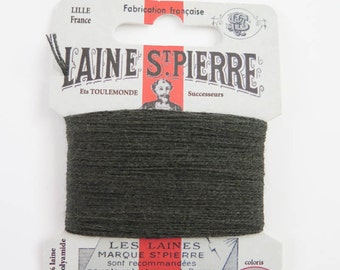Laine St. Pierre French Wool Embroidery Floss for Hand Embroidery, Darning | Wool Embroidery Thread in BOTTLE GREEN (#835-A1)