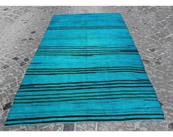 Kilim rug,295x148cm,9'7x4'9,Kilim,Blue Rug Rugs,Turkish rug,Turkish kilim,Handmade rug,Turkish kilim rug,Vintage Kilim,Blue kilim,1072