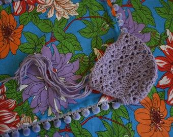 Lavande Newborn Crochet Bonnet Photo Prop