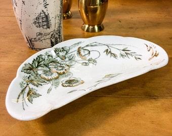 Antique John Edwards Harvest Porcelain De Terre English Bone Dish