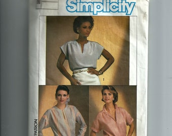 Simplicity Misses' Easy To Sew Tops Pattern 6807