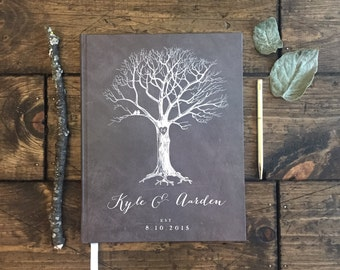 Wedding Tree Guest Book. Custom Wedding Tree. Wedding Memory Book. Wedding Photo Book. Custom Chalkboard Wedding Book. Rustic Wedding Book