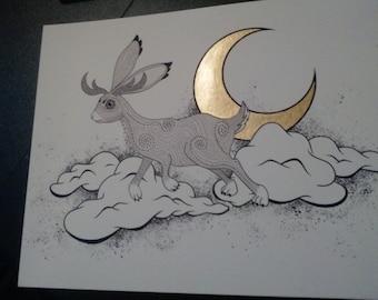 Moon Rabbit Art Print