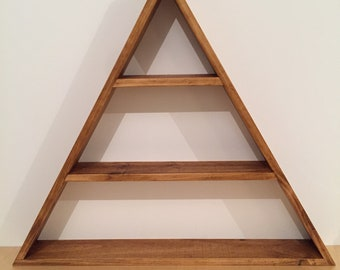 Pine triangle shelf