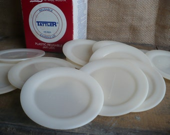 Vintage Tattler Reusable Canning Lid, Plastic Wide Mouth Mason Jar Lids
