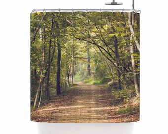 forest shower curtain, forest path, wilderness, forest light, nature shower curtain, rustic bath decor, rustic shower curtain, arkansas