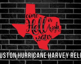 Houston Texas Hurricane Harvey Relief Decal - Proceeds donated to Texas Diaper Bank
