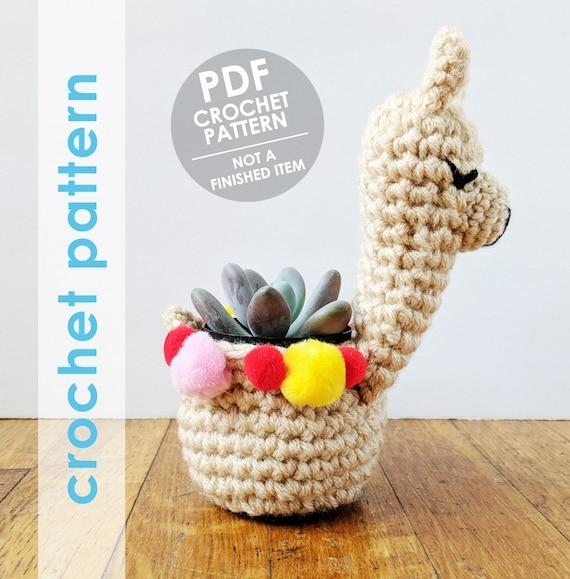 llama planter crochet pattern crochet mini planter succulent planter ...